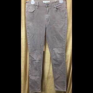 Bullhead High Rise Skinniest Brown Jeans